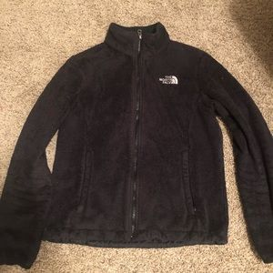 Black zip-up north face jacket